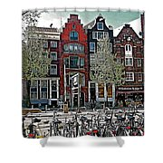 Bikes Everywhere In Amsterdam-netherlands Shower Curtain
