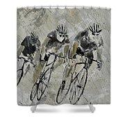 Bikes In The Rain Shower Curtain