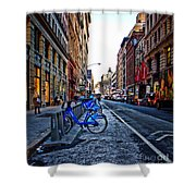 Bikes In The Snow Shower Curtain