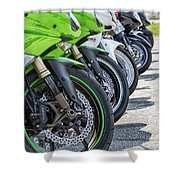 Bikes Lined Shower Curtain