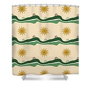 Bike Pattern Shower Curtain