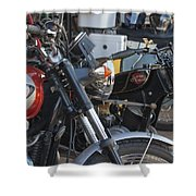 Old Motorbikes Shower Curtain
