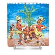 Bikutsi Dance 3 From Cameroon Shower Curtain
