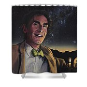 Bill Nye - A Candle In The Dark Shower Curtain