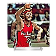 Bill Walton Shower Curtain by Florian Rodarte