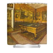 Billiard Room At Menil-hubert Shower Curtain