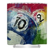 Billiards 10 And 9 Shower Curtain
