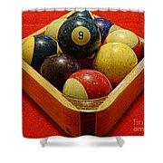 Billiards - 9 Ball - Pool Table - Nine Ball Shower Curtain