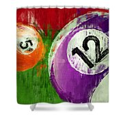 Billiards Abstract 5 12 Shower Curtain