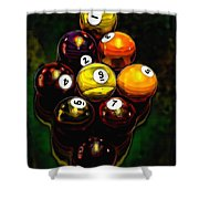 Billiards Art - Your Break 6 Shower Curtain