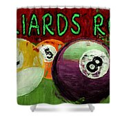 Billiards Room Abstract  Shower Curtain