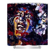 Billie Holiday Jazz Faces Series Shower Curtain