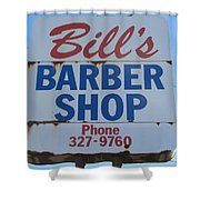Bill's Barber Shop Shower Curtain