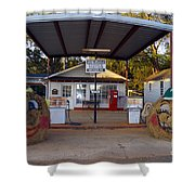 Billy Carters Old Service Station In Plains Georgia Shower Curtain