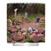 Billy Clanton And Frank Mclaury Shower Curtain