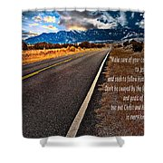 Billy Graham Quote Guidance Shower Curtain