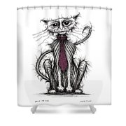 Billy The Cat Shower Curtain