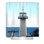 Biloxi Lighthouse 4 Shower Curtain