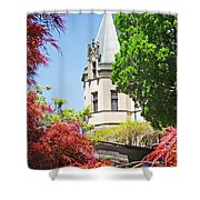 Biltmore And Japanese Maple Trees Shower Curtain