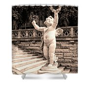 Biltmore Cherub Asheville Nc Shower Curtain by William Dey