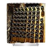 Biltmore Estate Wine Cellar -stored Wine Bottles Shower Curtain