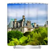 Biltmore In The Distance Shower Curtain