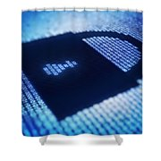 Electronic Data Security Shower Curtain