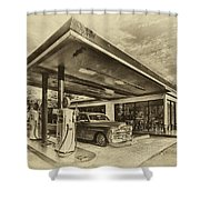 Bings Burgers Shower Curtain