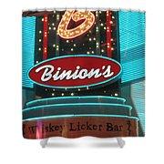 Binions Whiskey Licker Bar Shower Curtain