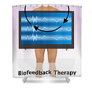 Biofeedback Therapy Shower Curtain
