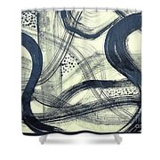 Biological Rhythms Shower Curtain