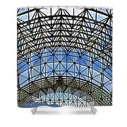 Biosphere2 - Arched Stucture Shower Curtain