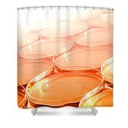 Biotechnology Experiment In Science Research Lab Shower Curtain