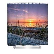 Birch Bay Sunset Shower Curtain