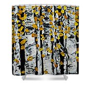 Birch Study Fall Shower Curtain