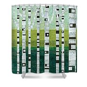 Birches At The Beach Shower Curtain