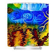 Bird Bath Shower Curtain