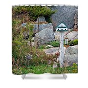 Bird House And Chimes Shower Curtain