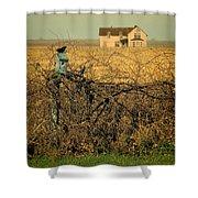 Bird House And Farm Shower Curtain