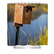 Bird House Autumn 1 Shower Curtain