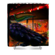 Bird IIzza Word Shower Curtain