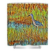 Bird In The Reeds Shower Curtain