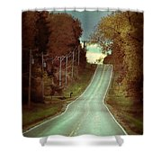Bird In The Road Shower Curtain