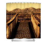 Bird Lookout-bosque Del Apache  Shower Curtain