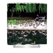 Bird Man Shower Curtain