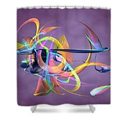 Bird-of-paradise - Abstract Shower Curtain
