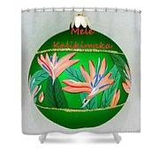 Bird Of Paradise Christmas Bulb Shower Curtain