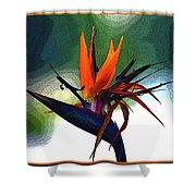 Bird Of Paradise Flower Fragrance Shower Curtain