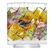 Bird On Chain Shower Curtain