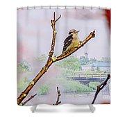 Bird On The Brunch Shower Curtain